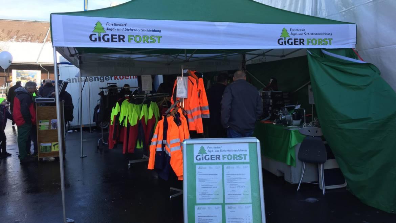 Giger Forst an der Agri-Messe Thun 2018